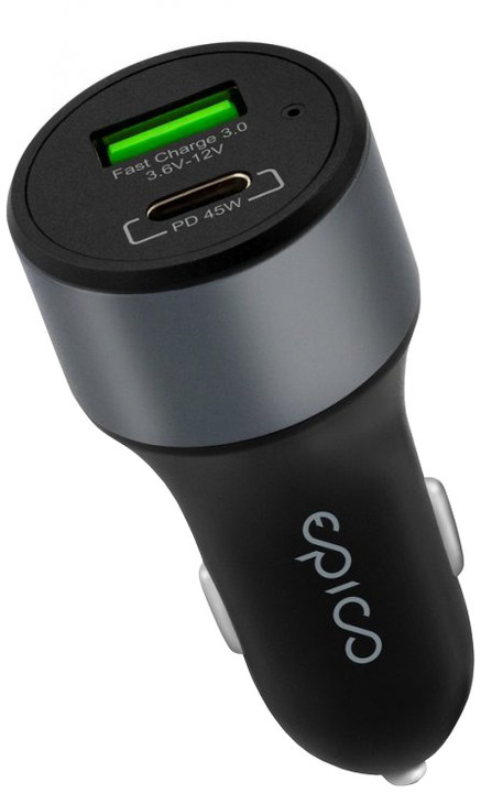 EPICO 45W PD car charger, space grey
