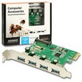 AXAGON PCIe adapter 4x USB3.0 Renesas