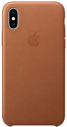 Apple kožený kryt na iPhone XS, sedlově hnědá