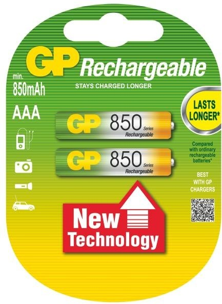 GP AAA Ni-MH 850mAh, 2ks