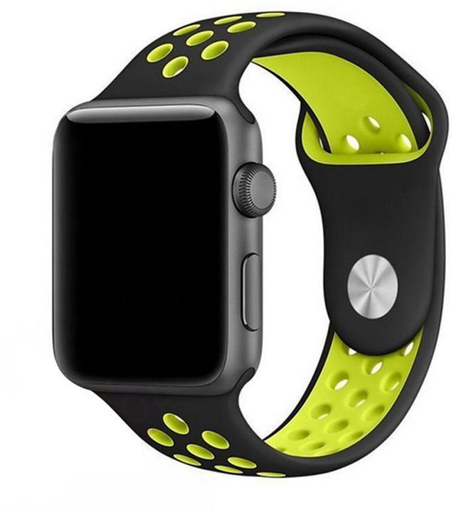 ESES sportovní řemínek 42mm pro Apple Watch, černo/žlutá