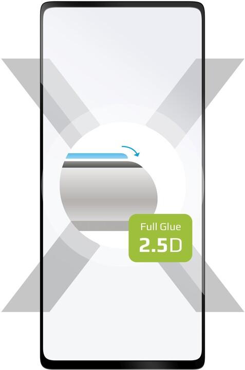 FIXED ochranné tvrzené sklo pro Samsung Galaxy S20 FE, Full-Cover, 2.5D, 0.33mm, černá