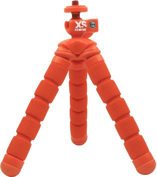 XSories Mini Bendy Compact Tripod, oranžová