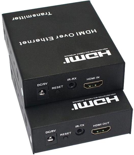 PremiumCord HDMI extender na 120m, over IP, jeden vysílač na více přijímačů