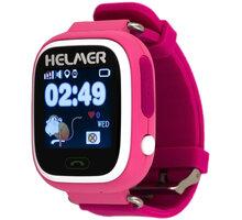HELMER LK 703 dětské hodinky s GPS lokátorem, růžové - LOKHEL1014