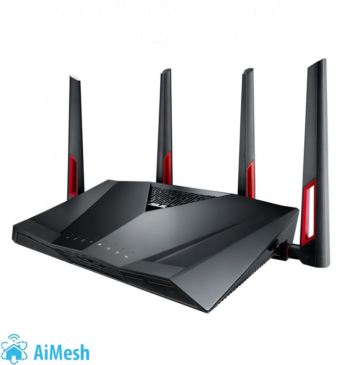 ASUS RT-AC88U, AC3100, Wi-Fi Gigabit Aimesh Router