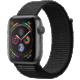 Apple Watch series 4, 40mm, pouzdro z vesmírně šedého hliníku/černý provlékací řemínek