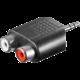 PremiumCord adaptér 3,5mm Stereo jack - 2x Cinch Male/Female