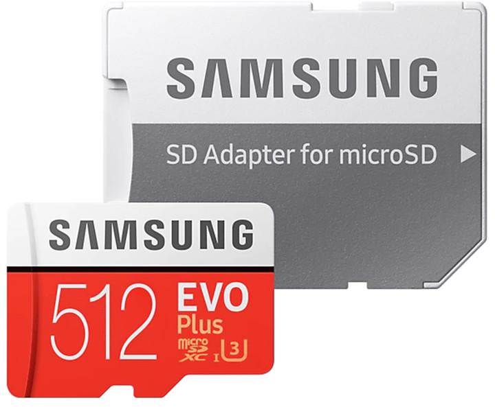 Samsung EVO Plus Micro SDXC 512GB UHS-I U3 + SD adaptér