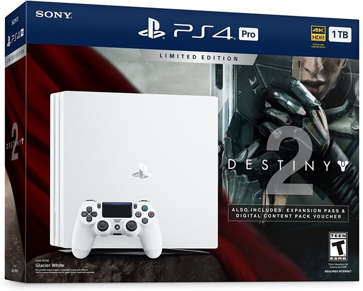 PlayStation 4 Pro, 1TB, bílá + Destiny 2 + That's You