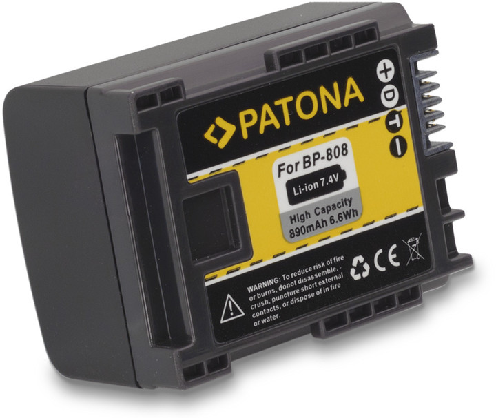 Patona baterie pro Canon, BP-808 890mAh
