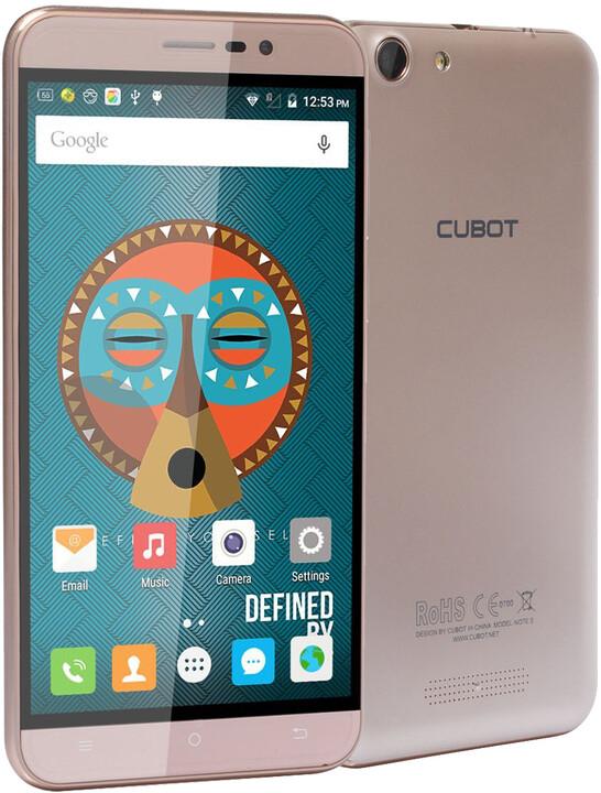 CUBOT Note S - 16GB, zlatá