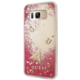 Guess Liquid Glitter Hard Case pro Samsung G955 Galaxy S8 Plus, Rapsberry