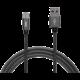 MAX kabel micro USB opletený, 1m, šedá