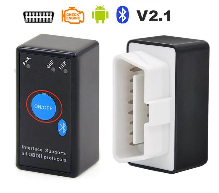 Automobilová diagnostická Bluetooth jednotka pro OBD II, čip 2.1 (ekv.ELM 327) pro Android, CZ sw