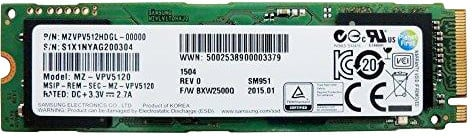 Samsung SSD SM951 (NVMe), M.2 - 512GB
