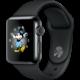 Apple Watch 2 38mm Space Black Stainless Steel Case with Space Black Sport Band  + Apple watch náramek 38mm Azure Sport Band - S/M & M/L + Voucher až na 3 měsíce HBO GO jako dárek (max 1 ks na objednávku)