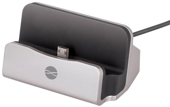 Forever DS-01 nabíjecí stojánek TFO pro microUSB, stříbrný