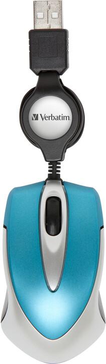Verbatim Go Mini Optical Travel Mouse, karibská modrá