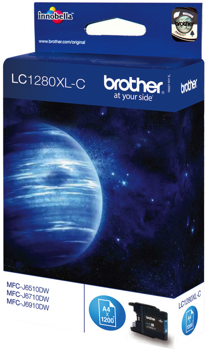 Brother LC-1280XLC, azurový