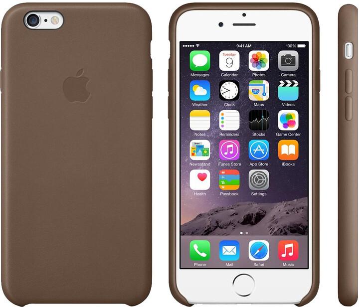 Apple Leather Case pouzdro pro iPhone 6, hnědá