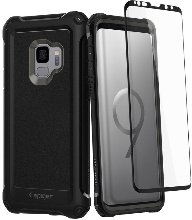 Spigen Pro Guard pro Samsung Galaxy S9, gunmetal