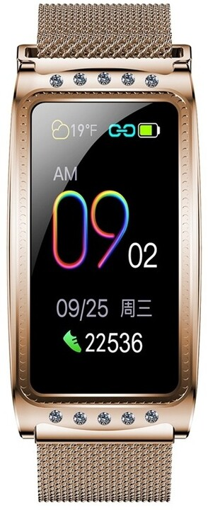 IMMAX chytré hodinky Crystal Fit, zlaté