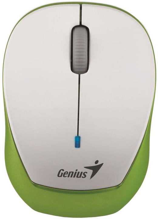 Genius Micro Traveler 9000R V3, bílá/zelená