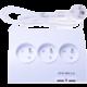 PremiumCord Prodlužovací přívod 230V 1,5m 5zásuvek+vypínač+2x USB 2A