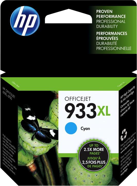 HP CN054AE No.933 XL cyan – ušetřete až 50 % oproti standardní náplni