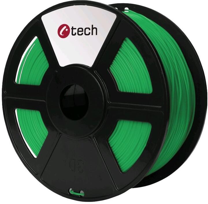 C-TECH tisková struna (filament), PETG, 1,75mm, 1kg, zelená