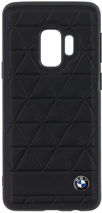 BMW Hexagon Leather Hard Case Black pro Samsung G960 Galaxy S9