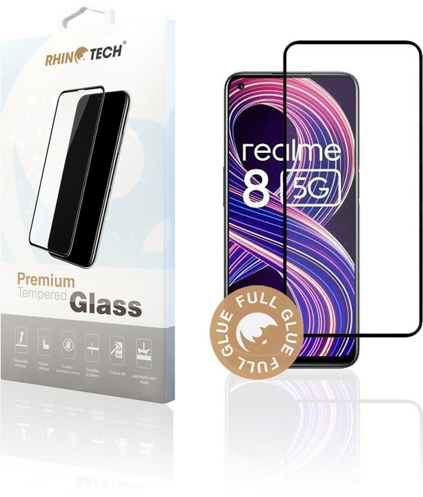 RhinoTech 2 ochranné sklo pro Realme 8 5G / Narzo 30 5G, 2.5D, černá
