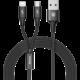 Baseus kabel Rapid Series 2-in-1 Micro + Lightning 3A 1.2M, černá