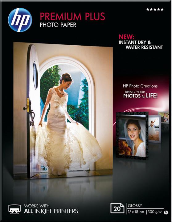 HP Foto papír Premium Glossy Plus CR676A, 13x18, 20 ks, 300g/m2, lesklý