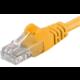 PremiumCord síťový UTP cat.5e PC-HUB - 0,5m, žlutá
