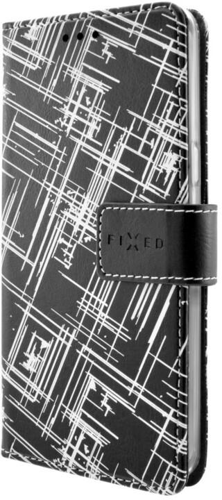 FIXED Opus pouzdro typu kniha pro Samsung Galaxy J3 (2016), motiv White Stripes