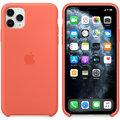 Apple silikonový kryt na iPhone 11 Pro Max, mandarinková