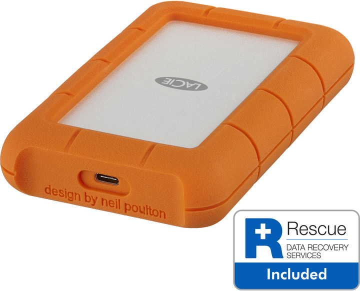 LaCie Rugged Secure - 2TB + 2 roky Rescue Data Recovery