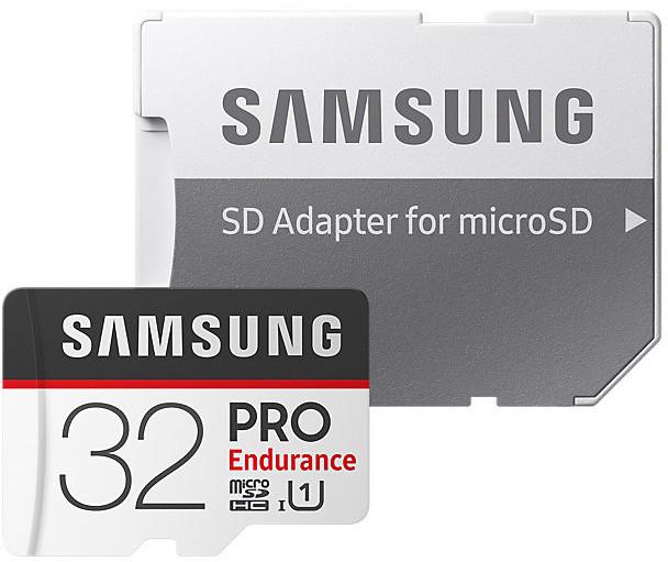 Samsung Micro SDHC 32GB PRO Endurance UHS-I + SD adaptér