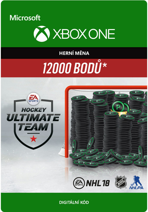 NHL 18 - 12000 HUT Points (Xbox ONE) - elektronicky