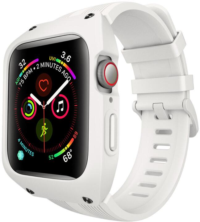 MAX silikonový řemínek MAS14 pro Apple Watch, 38/40mm, bílá