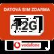 Vodafone SIM karta o kapacitě 1,2GB v hodnotě 200 Kč