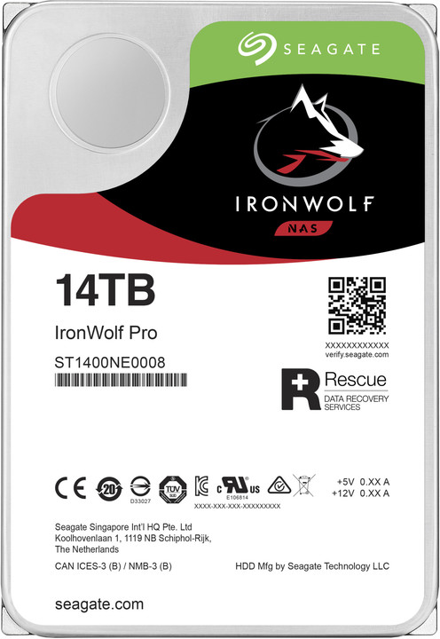 """Seagate IronWolf PRO, 3,5"""" - 14TB"""