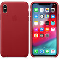 Apple kožený kryt na iPhone Xs Max (PRODUCT)RED, červená