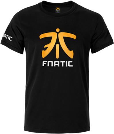 Tričko Fnatic Premium Crew Neck, černé (XL)