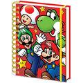 Zápisník Nintendo: Super Mario Run, linkovaný, kroužková vazba, A5