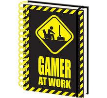 Zápisník Gaming - Gamer At Work, kroužková vazba (A5) - SR72666