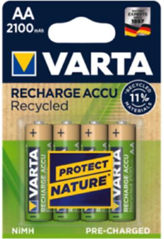 VARTA nabíjecí baterie Recycled AA 2100 mAh, 4ks