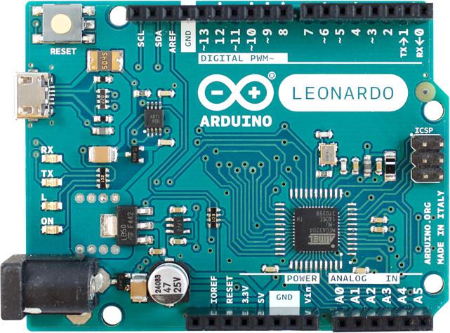 ARDUINO Leonardo - vývojová deska (s přípojkami)